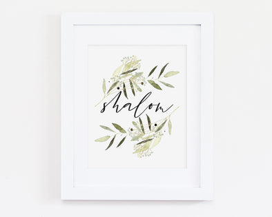 Shalom | Christian Printables | Bible Verse Wall Art | Christian Gifts | Scripture Decor | Wondrous Works | Etsy | Green