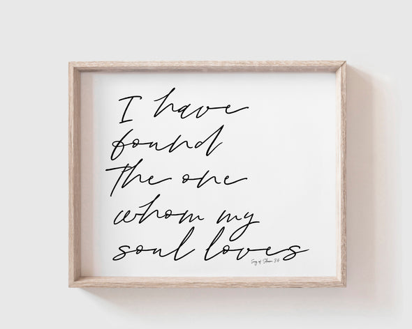 Christian Gifts | Christian Wall Art | Song of Solomon 3:4 | [theme] | [occasion]  | [colour] |