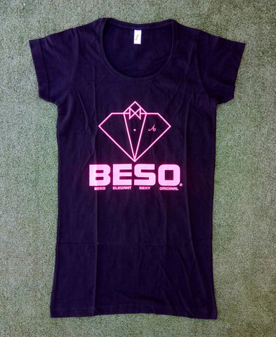 T-shirt robe B-E-S-O black col U