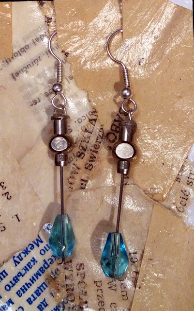Hypodermic Earrings - Cherenkov Blue