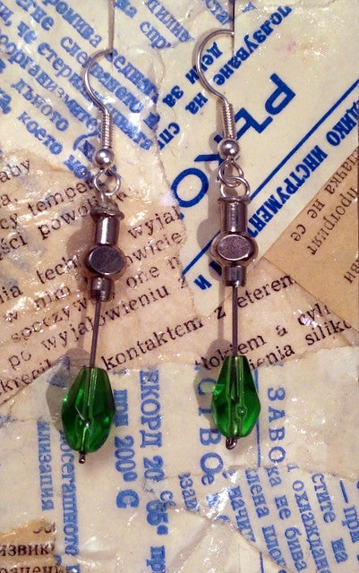 Hypodermic Earrings - Radium Green