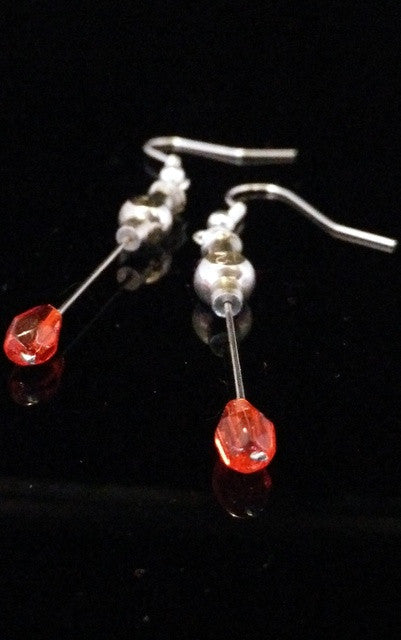 Hypodermic Earrings - Blood drop Red