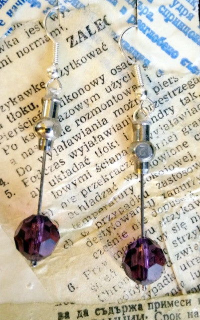 Cosmic Purple Earrings