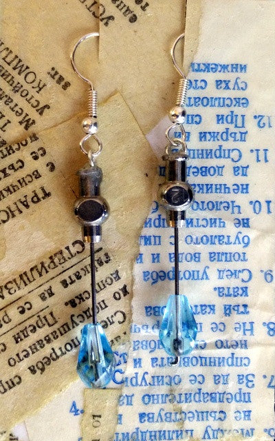 Cherenkov Blue Earrings