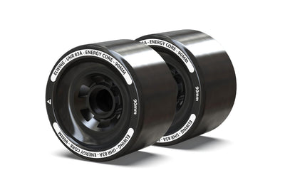 Pair of 90mm wheels