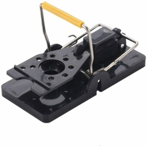 Mouse Trap Heavy Duty Snap-E Black Yellow New