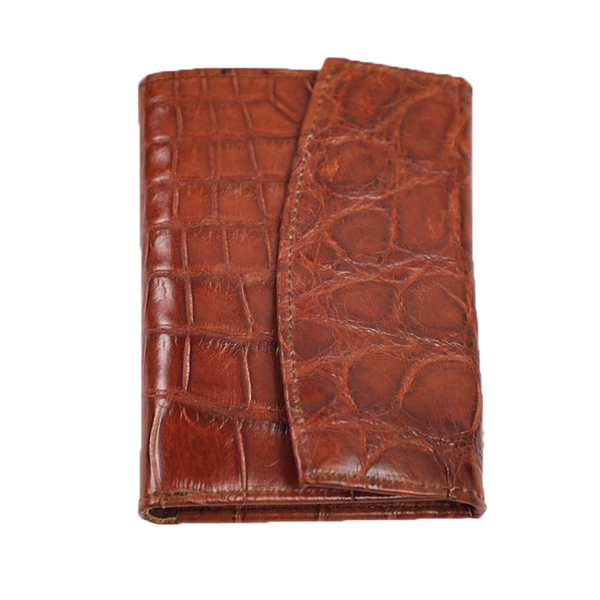 ALLIGATOR FRENCH PURSE WALLET