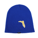 BLUE BEANIE WITH LIGHT ORANGE FC BOOT