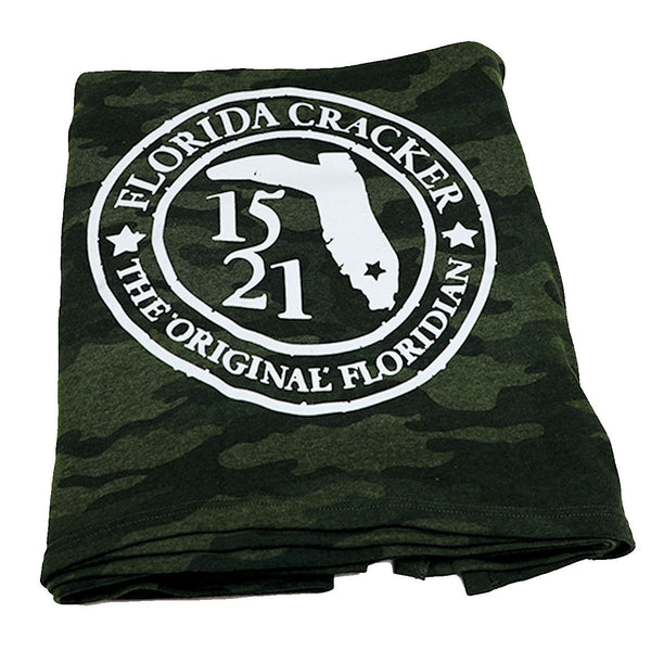 1521 ORIGINAL FLORIDIAN BADGE- FORREST CAMO- BLANKET
