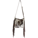 FREE BIRD- CROSSBODY BOHO FRINGE COWHIDE BAG WITH ZIPPER