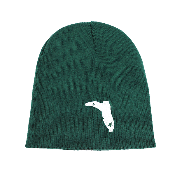 GREEN BEANIE WITH WHITE FC BOOT