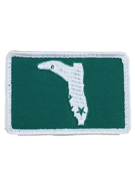 GREEN & WHITE  SQUARE VELCRO PATCH