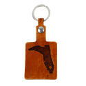 LEATHER SQUARE KEYCHAIN- BOOT