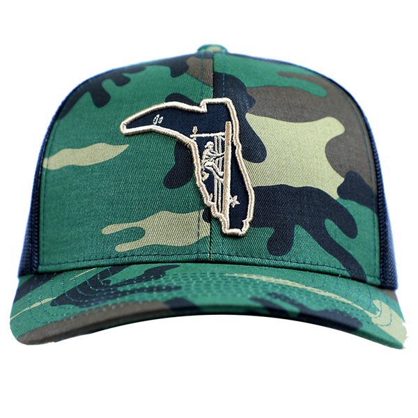 LINEMAN ARMY/ BLACK TRUCKER HAT