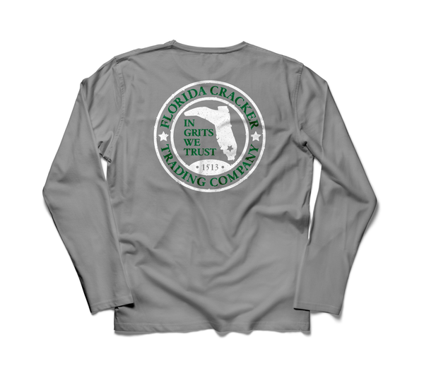 HEATHER GRAY 1513 BADGE LONG SLEEVE