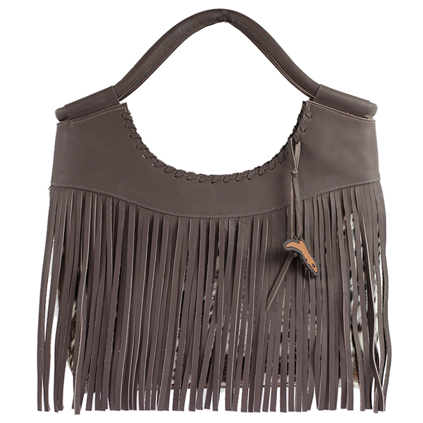MUSTANG- LEATHER & COW HIDE PURSE WITH FRINGE
