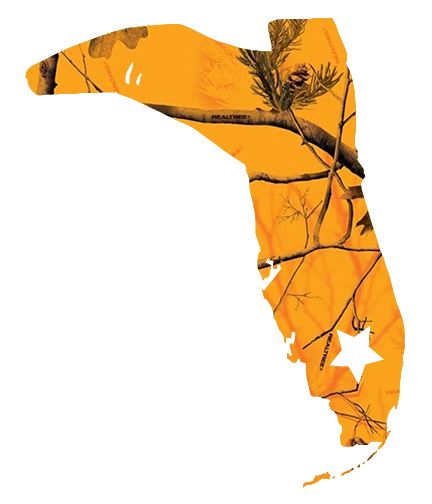 ORANGE CAMO BOOT DECAL