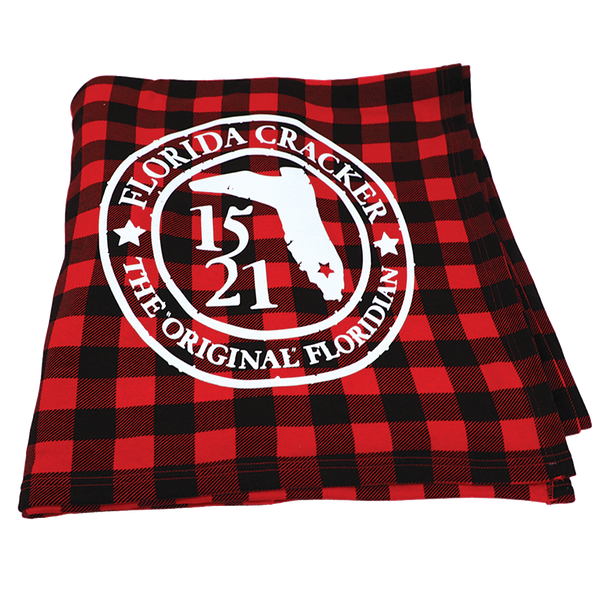 1521 ORIGINAL FLORIDIAN BADGE- RED BUFFALO PLAID- BLANKET