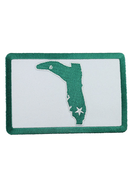 WHITE GREEN SQUARE PATCH