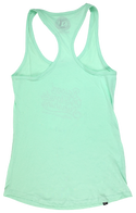 RAISED ON FLORIDA SUNSHINE- MINT GREEN- LADIES RACER BACK TANK TOP