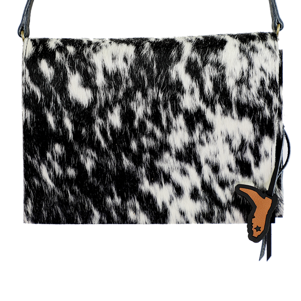 URBAN COWGIRL- HANDMADE LEATHER & COWHIDE SHOULDER BAG