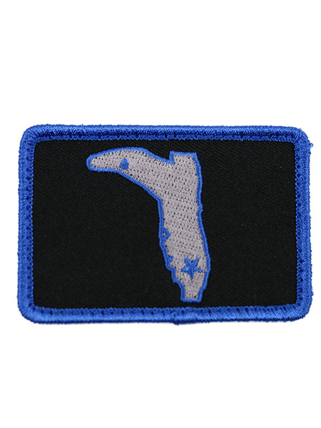 BLACK & BLUE VELCRO PATCH