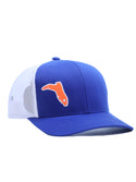 6 PANEL ROYAL BLUE ON WHITE WITH ORANGE BOOT