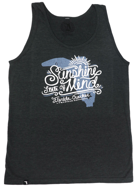 SUNSHINE STATE OF MIND- HEATHER BLACK- STANDARD TANK TOP