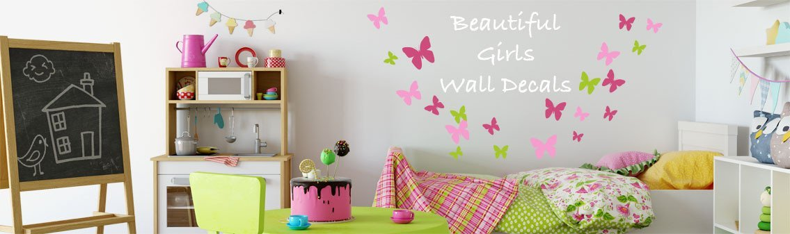 Girls Wall Decals & Stickers ❤️ | Create-A-Mural