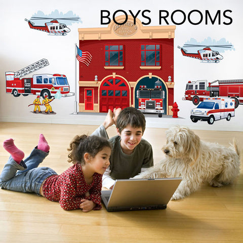 boys rooms murals