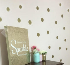 Gold Wall Dots