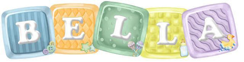 ABC Baby Blocks-Name-Custom Decals
