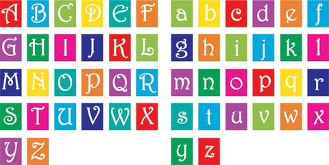 Alphabet Blocks Decals for Nursery, Toddler & Preschool Rooms - Kids Room Mural Wall Decals