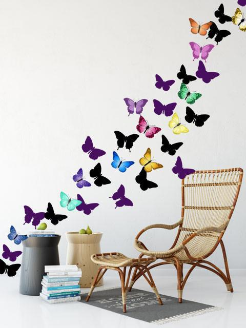 Artsy Butterfly Family Wall Decals
