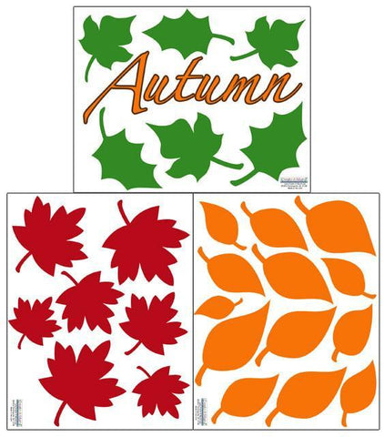 Autumn Fall Leaves Wall Decals - Kids Room Mural Wall Decals