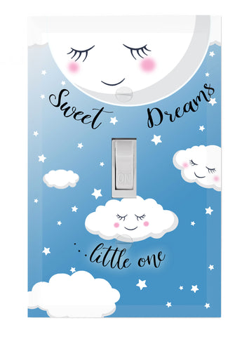 Sweet Dreams Baby Nursery Light Switch Cover