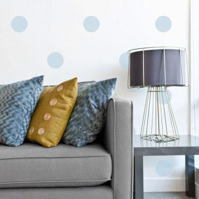Soft Blue Room Dot Decals