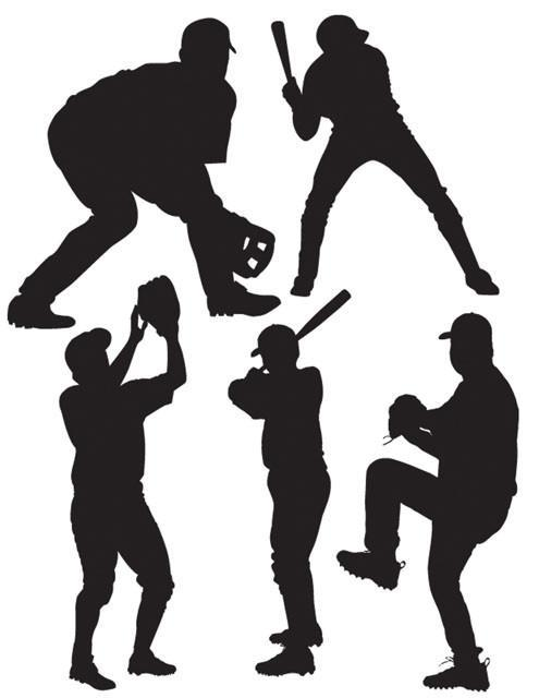 Baseball Players Wall Stickers