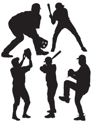 Baseball Players Wall Stickers -Boys Wall Decals - Create-A-Mural