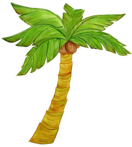 Palm Tree Mural - Kids Room Mural Wall Decals