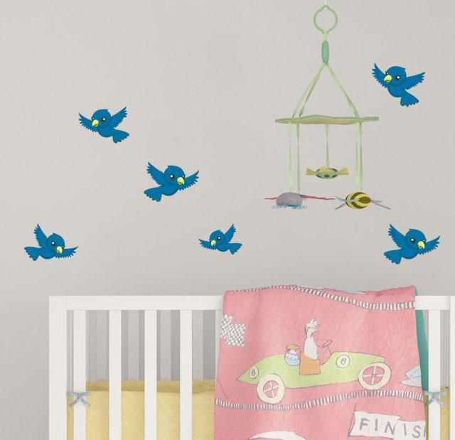 Cute Bird Wall Decals