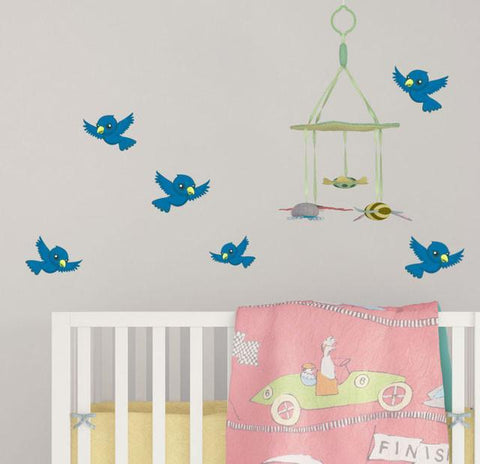 Cute Bird Wall Decals - Kids Room Mural Wall Decals