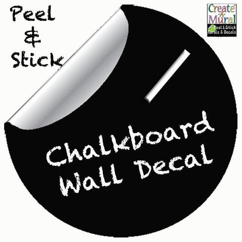 "Chalkboard Dot Decal Black -11"" - Create-A-Mural"