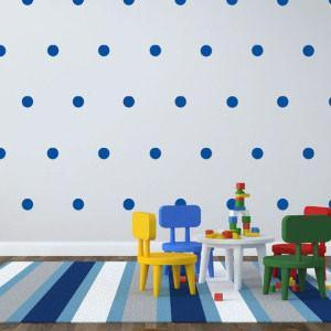 Blue Room Dot Decals - Kids Room Mural Wall Decals