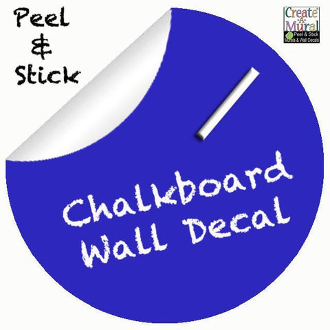 Chalkboard Dot Decal (Blue) - Kids Room Mural Wall Decals