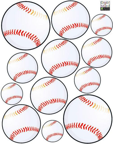 Boys Wall Decals, Baseball Wall Stickers - Create-A-Mural