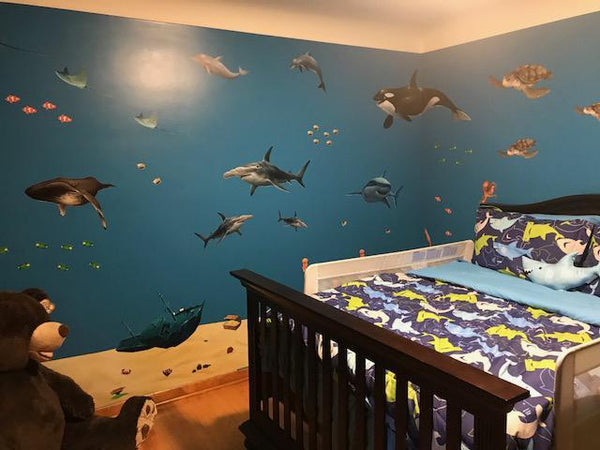 Ocean Mural Underwater Sea Wall Mural For Kids Room Walls