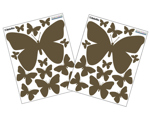 Brown Butterfly Wall Stickers Easy Amp Instant Room Decor