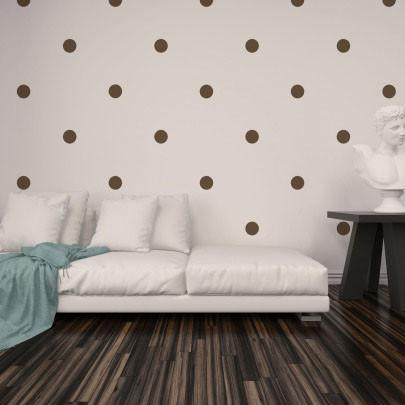 Brown Room Dots - Create-A-Mural