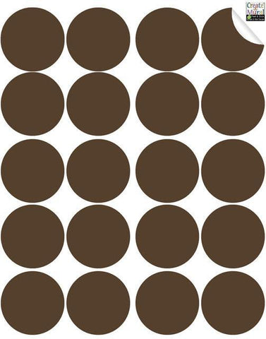 Brown Wall Dot Decals
